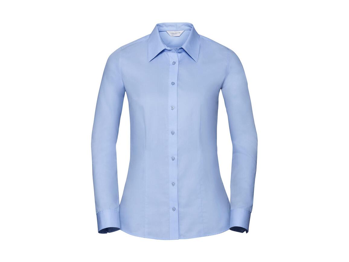 Russell Europe Ladies` LS Tailored Coolmax® Shirt, White, XS bedrucken, Art.-Nr. 024000002