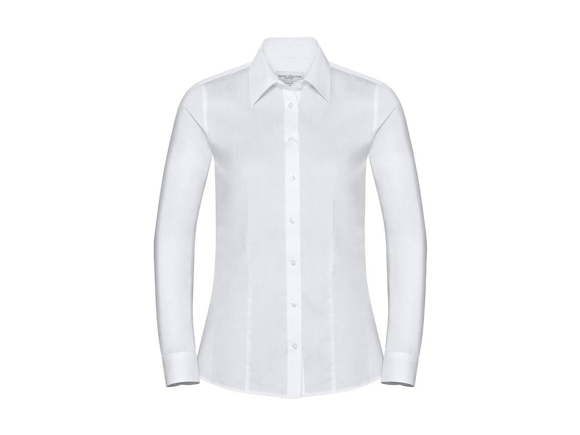 Russell Europe Ladies` LS Tailored Coolmax® Shirt, Light Blue, S bedrucken, Art.-Nr. 024003213