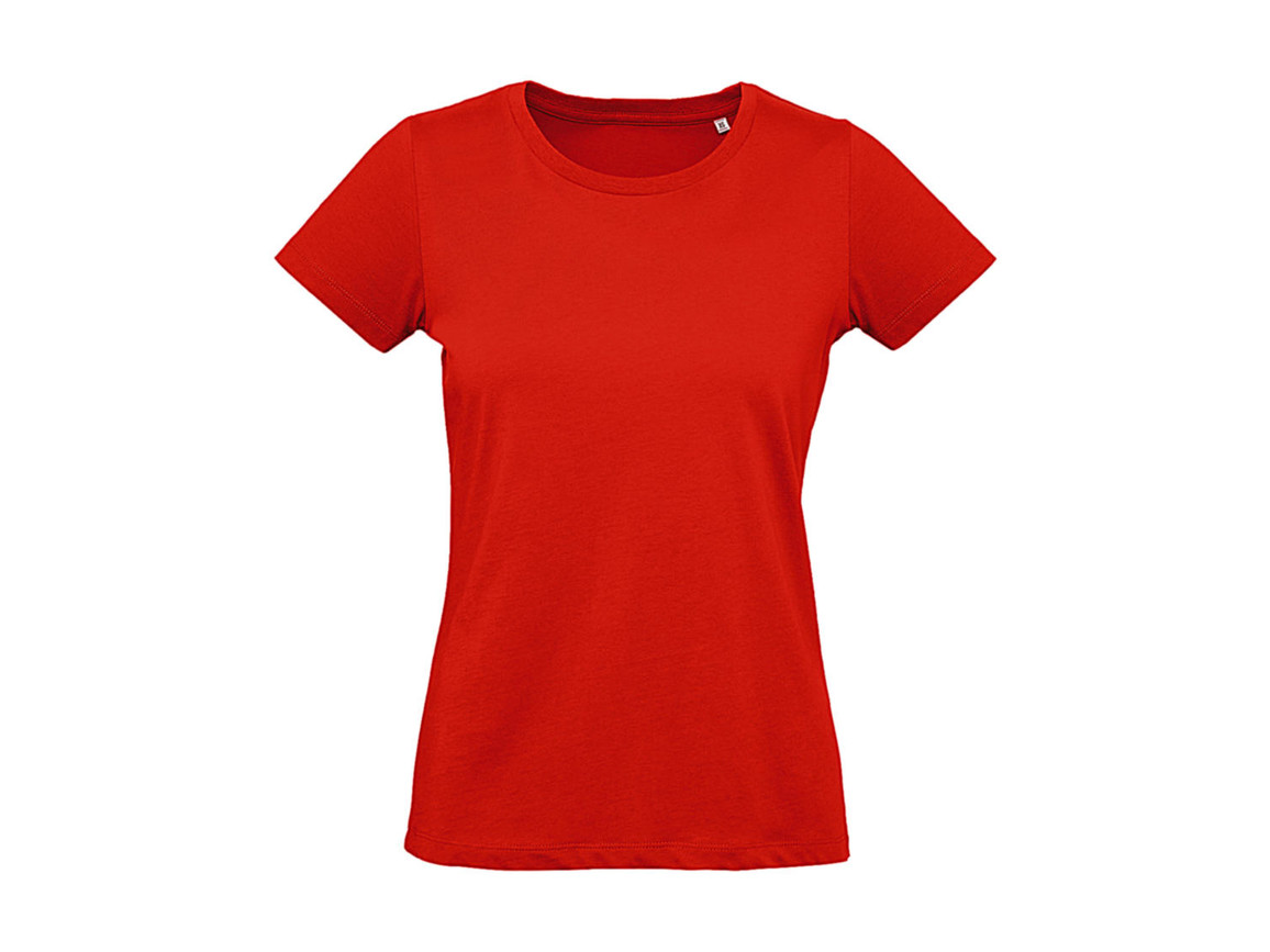 B & C Inspire Plus T /women T-Shirt, Fire Red, XL bedrucken, Art.-Nr. 024424076