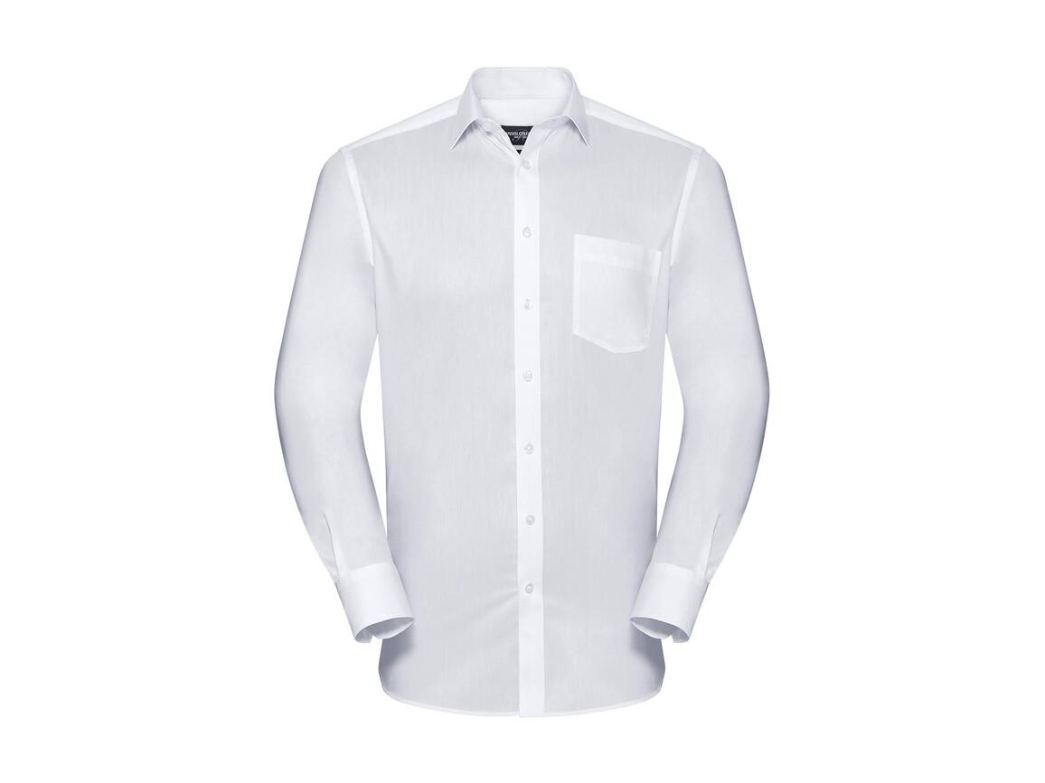 Russell Europe Men`s LS Tailored Coolmax® Shirt, White, S bedrucken, Art.-Nr. 025000003