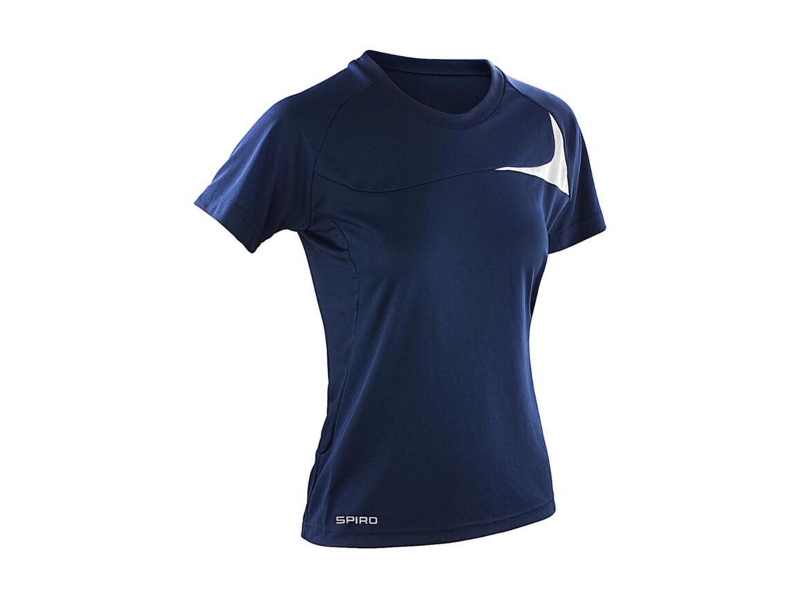 Result Spiro Ladies` Dash Training Shirt, Navy/White, M bedrucken, Art.-Nr. 025332524