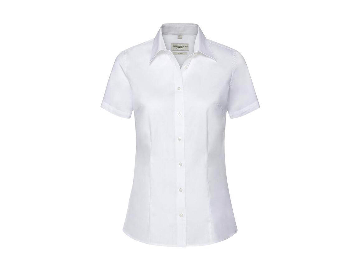 Russell Europe Ladies` Tailored Coolmax® Shirt, White, S bedrucken, Art.-Nr. 026000003