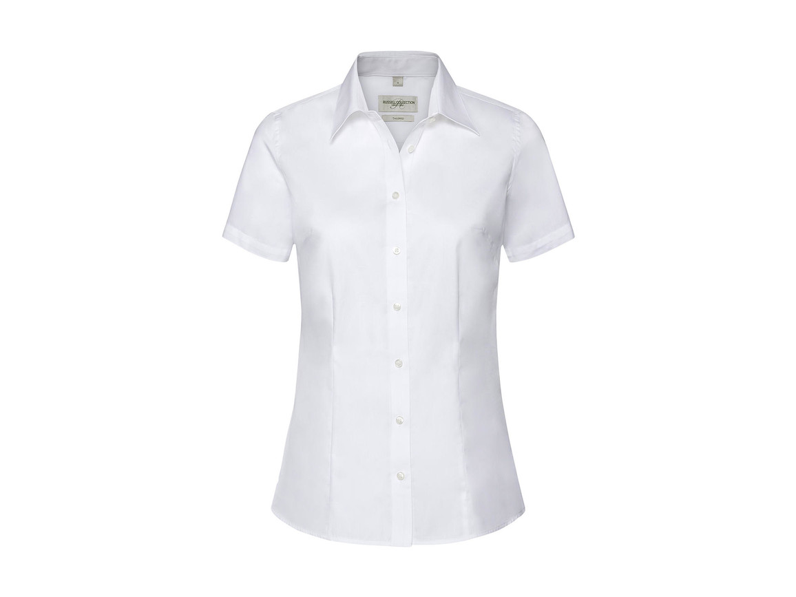 Russell Europe Ladies` Tailored Coolmax® Shirt, White, XL bedrucken, Art.-Nr. 026000006