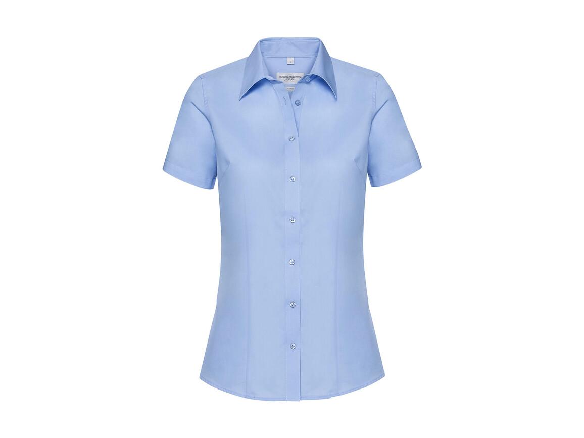Russell Europe Ladies` Tailored Coolmax® Shirt, Light Blue, S bedrucken, Art.-Nr. 026003213