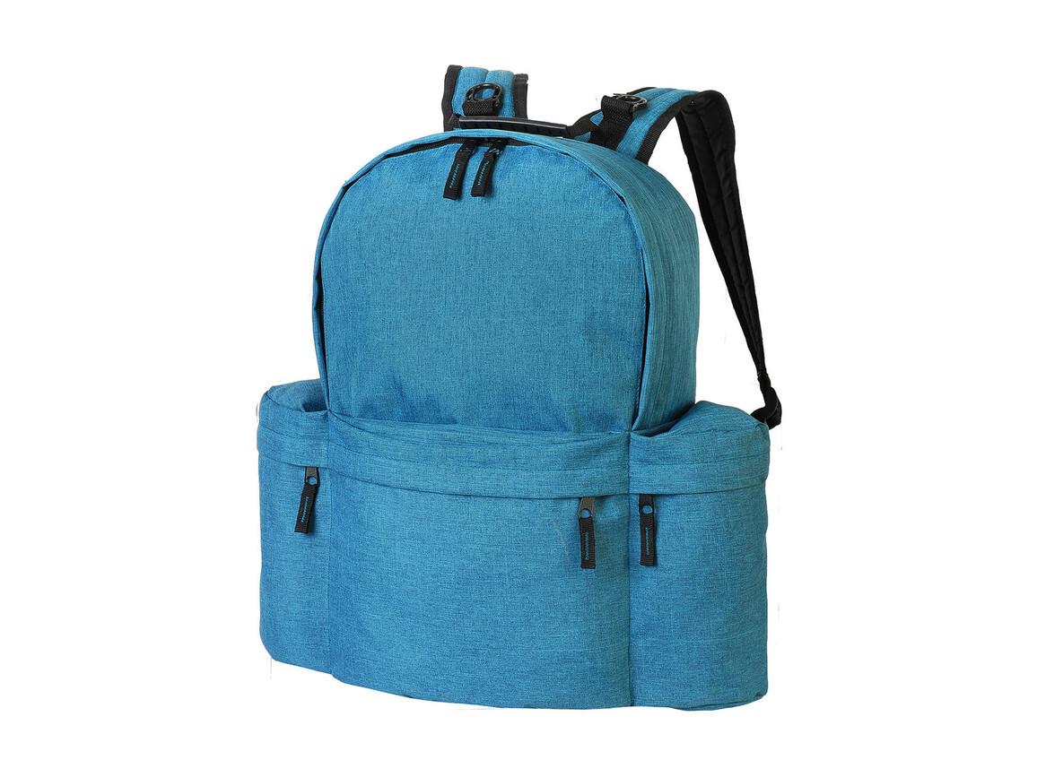 Shugon Forever Retro Backpack, Petrol Melange, One Size bedrucken, Art.-Nr. 026385570