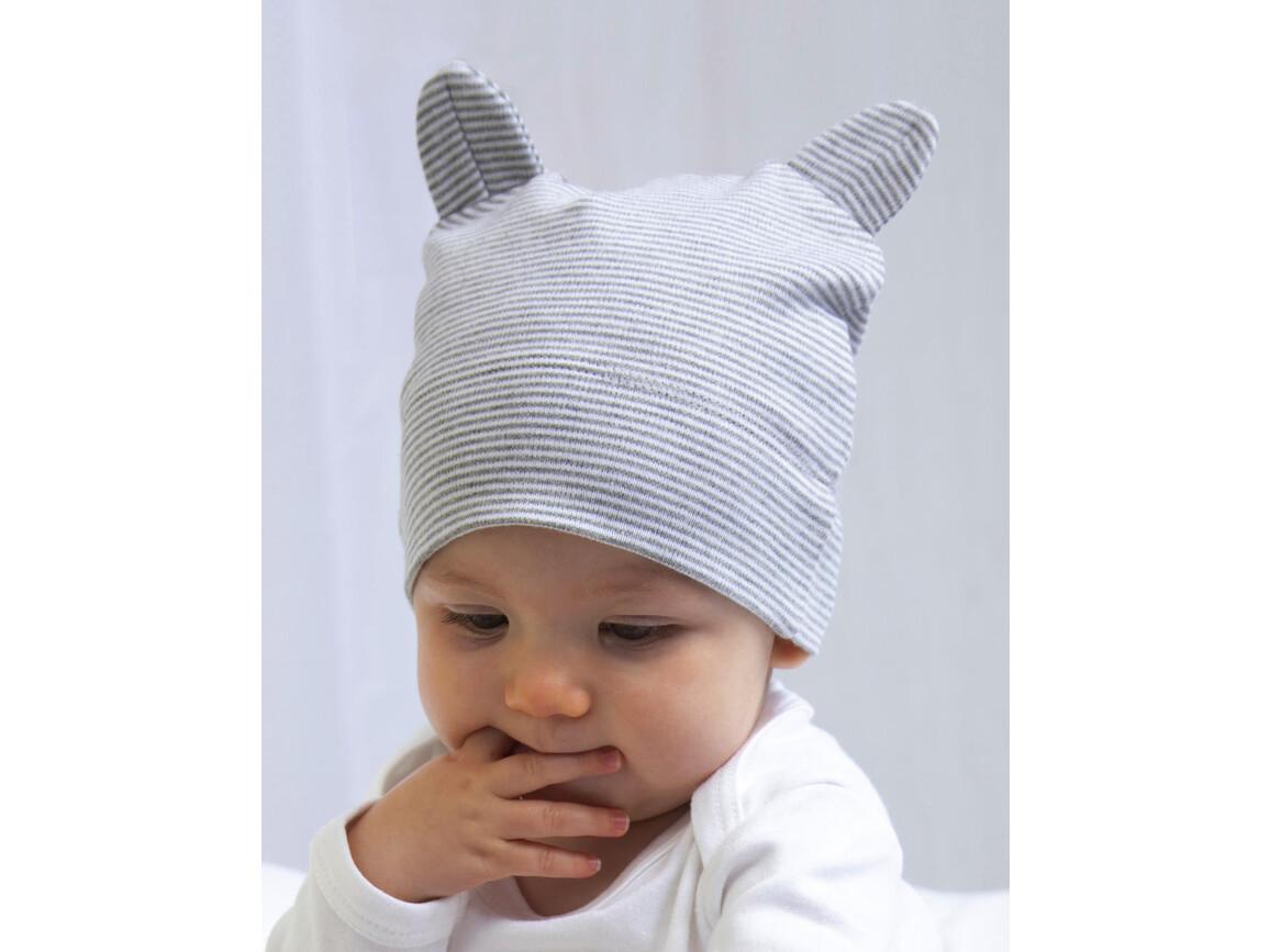 BabyBugz Little Hat with Ears, Organic Natural/Mocha, One Size bedrucken, Art.-Nr. 026470620