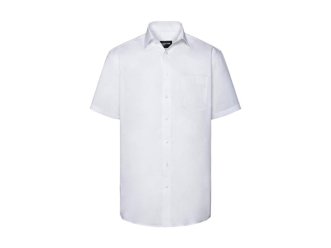 Russell Europe Men`s Tailored Coolmax® Shirt, White, S bedrucken, Art.-Nr. 027000003