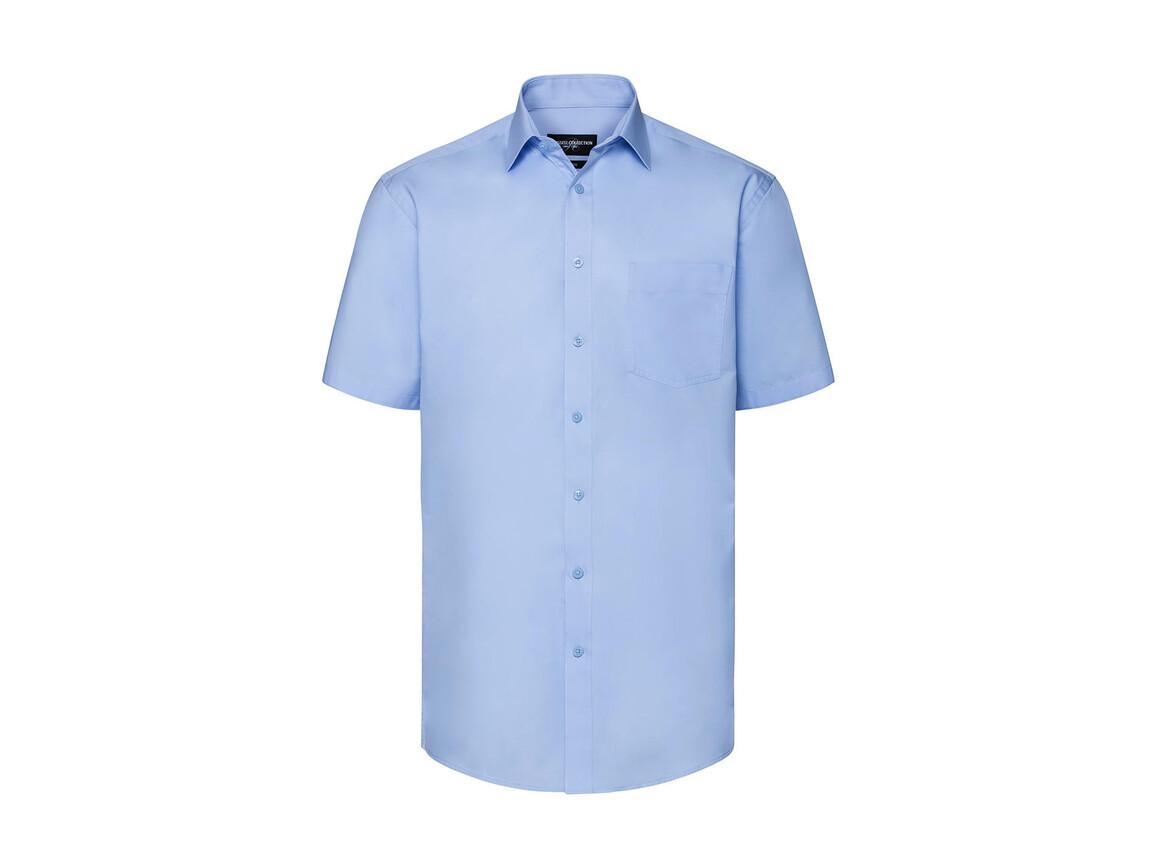 Russell Europe Men`s Tailored Coolmax® Shirt, Light Blue, S bedrucken, Art.-Nr. 027003213