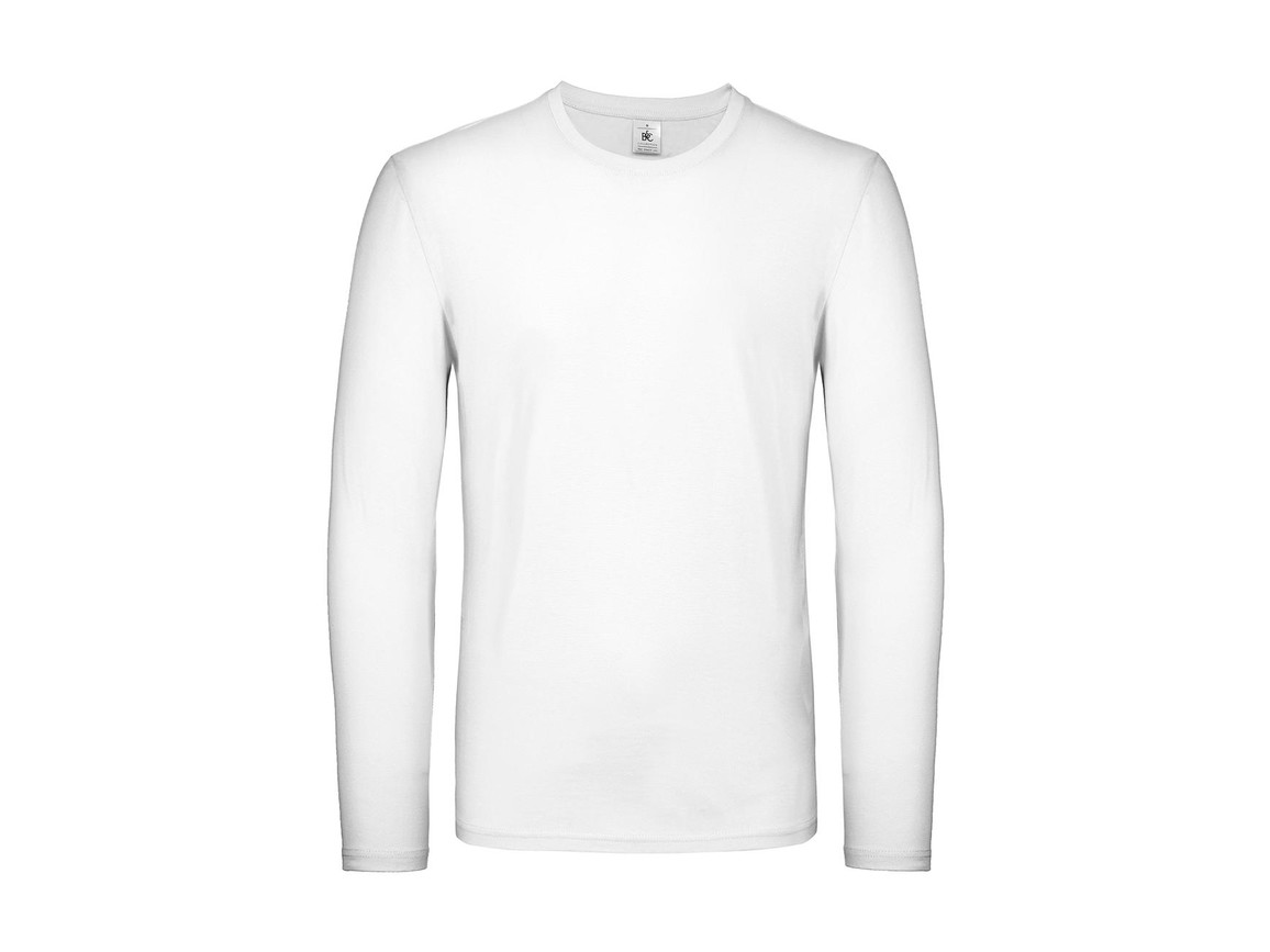 B & C #E150 LSL, White, M bedrucken, Art.-Nr. 027420004