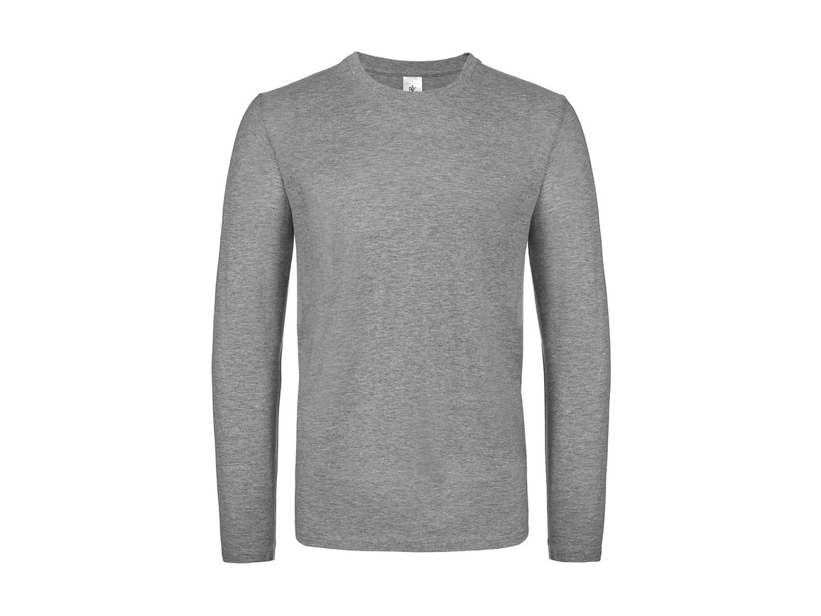 B & C #E150 LSL, Sport Grey, XL bedrucken, Art.-Nr. 027421256