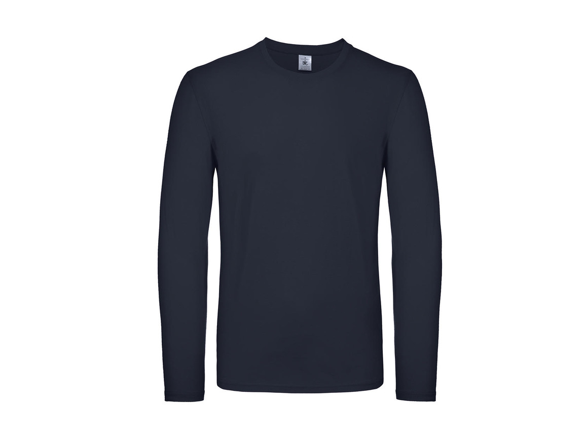 B & C #E150 LSL, Navy, 3XL bedrucken, Art.-Nr. 027422008