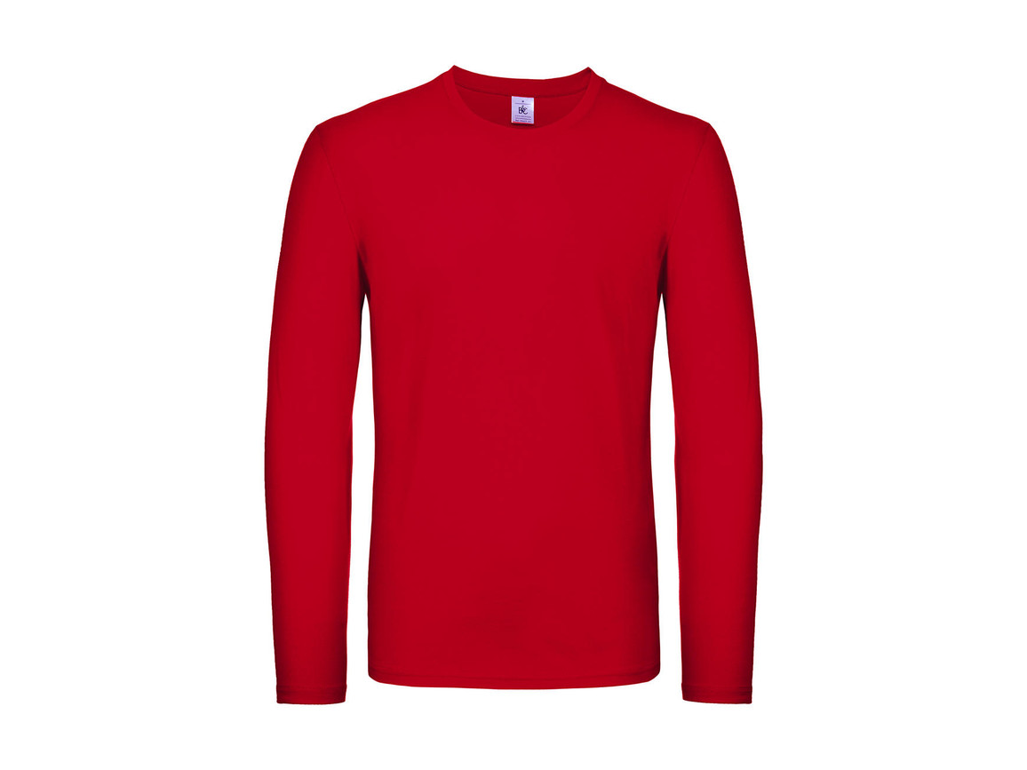 B & C #E150 LSL, Red, L bedrucken, Art.-Nr. 027424005