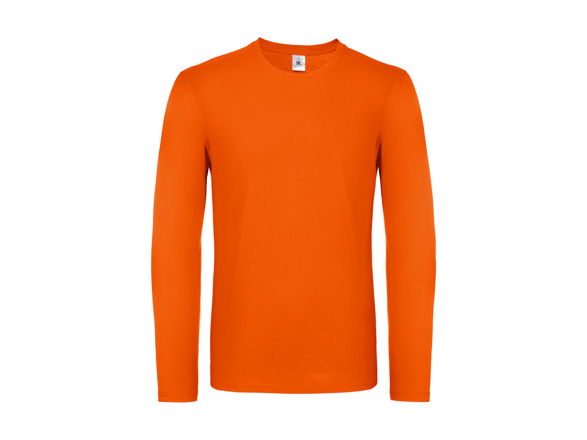 B & C #E150 LSL, Orange, L bedrucken, Art.-Nr. 027424105