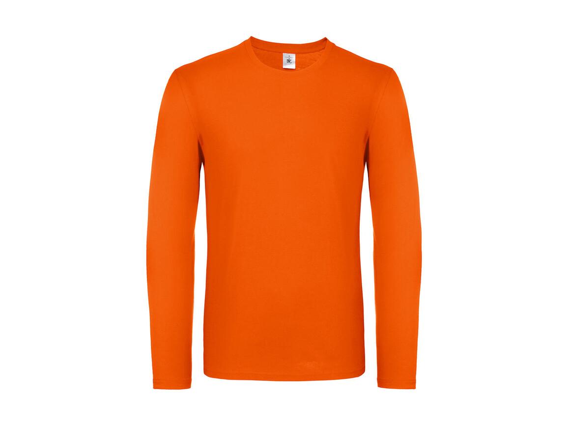 B & C #E150 LSL, Orange, M bedrucken, Art.-Nr. 027424104