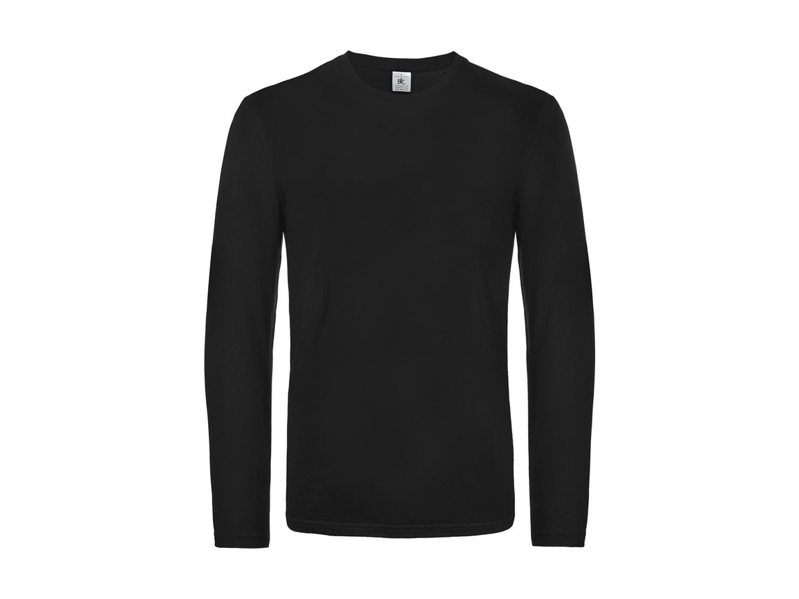 B & C #E190 LSL, Black, 2XL bedrucken, Art.-Nr. 028421017