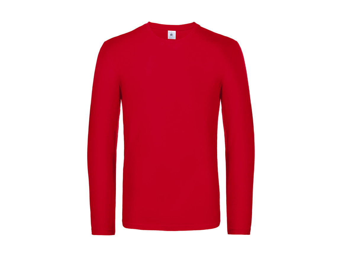 B & C #E190 LSL, Red, 2XL bedrucken, Art.-Nr. 028424007