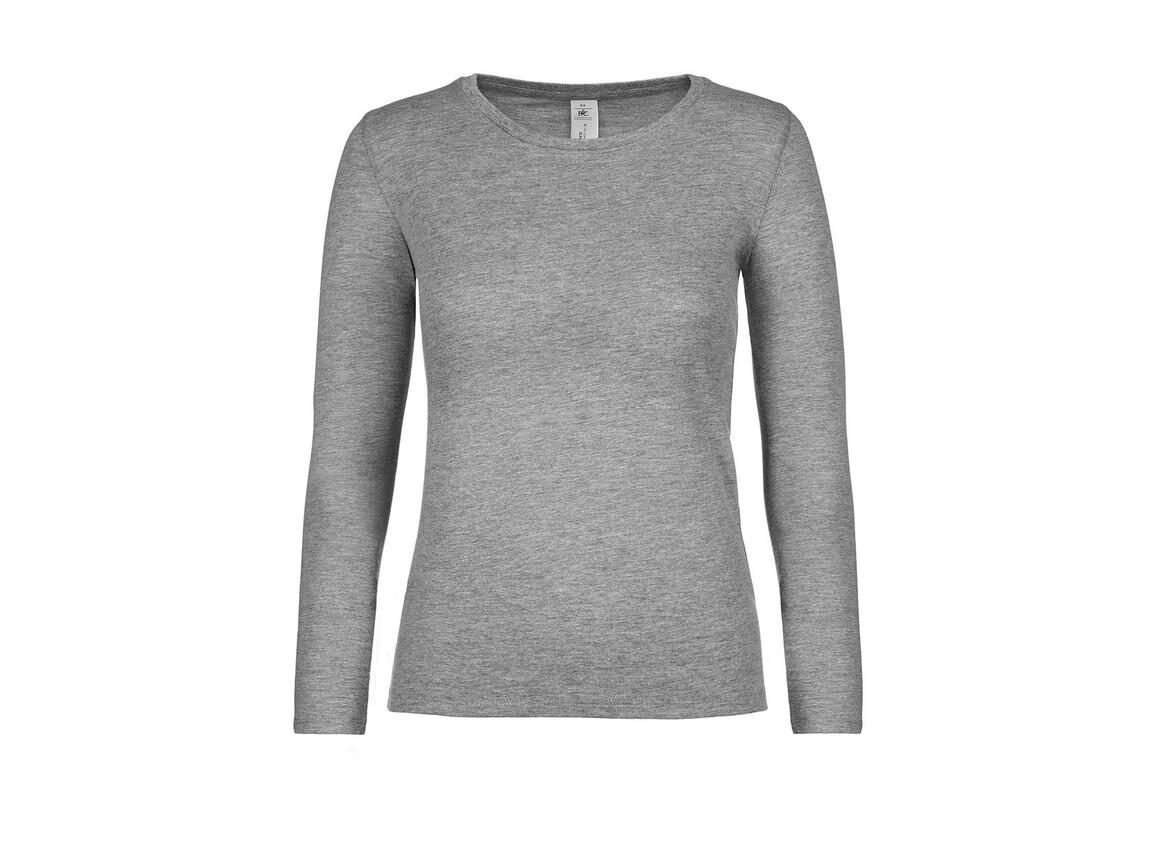 B & C #E150 LSL /women, Sport Grey, XS bedrucken, Art.-Nr. 029421252