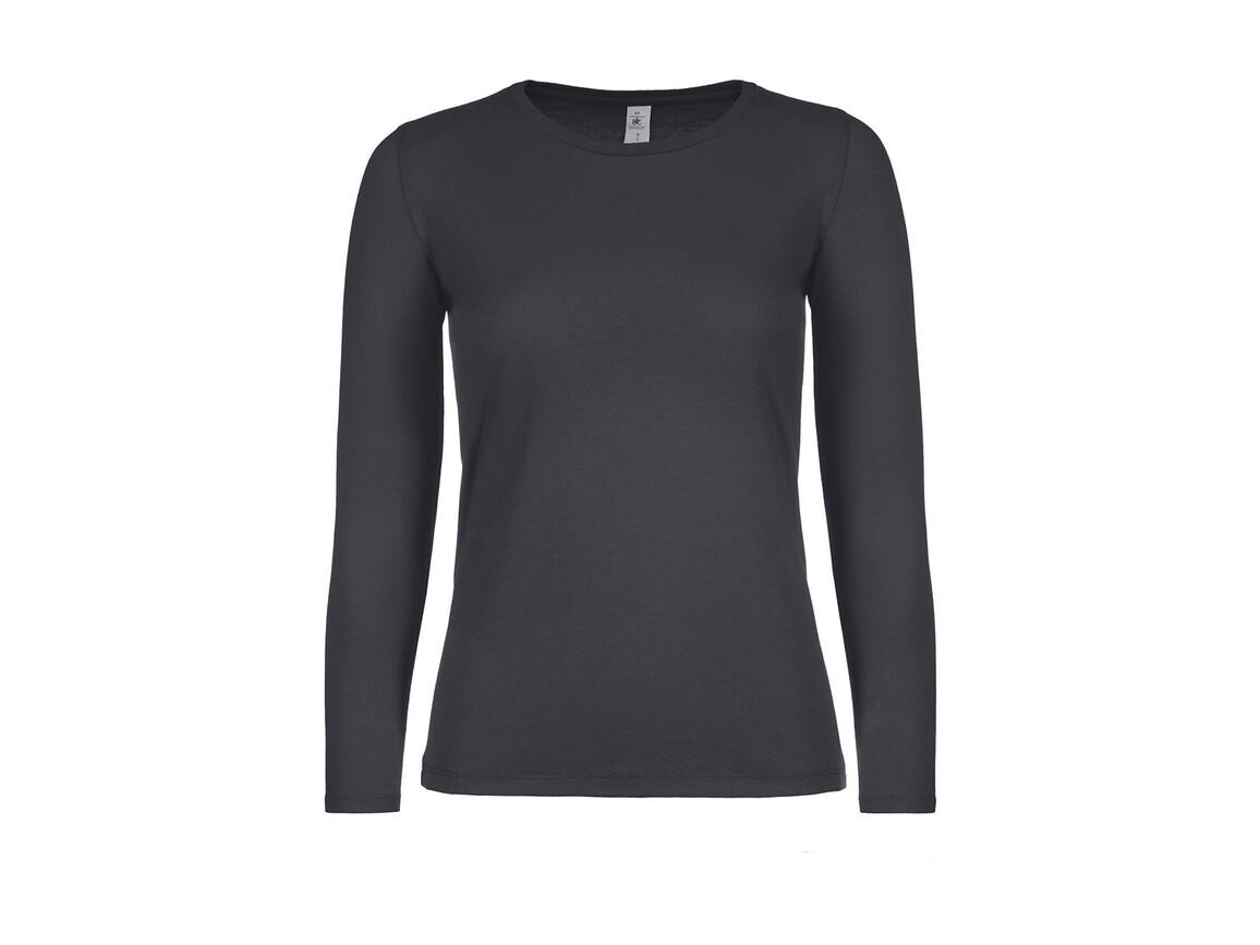 B & C #E150 LSL /women, Dark Grey, M bedrucken, Art.-Nr. 029421284