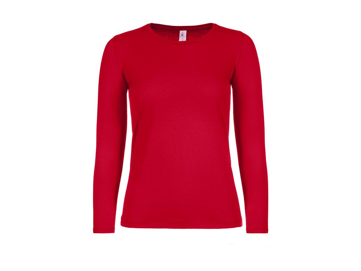 B & C #E150 LSL /women, Red, S bedrucken, Art.-Nr. 029424003