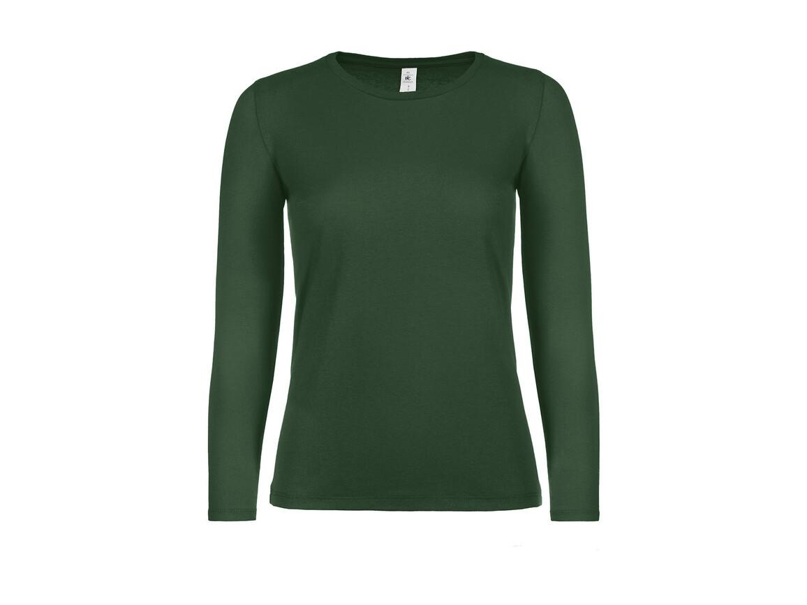 B & C #E150 LSL /women, Bottle Green, L bedrucken, Art.-Nr. 029425405
