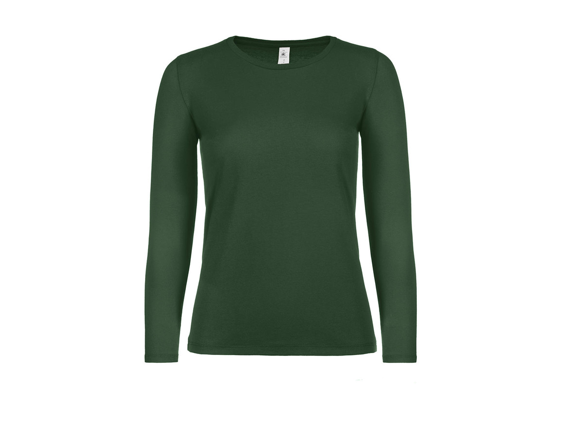 B & C #E150 LSL /women, Bottle Green, XL bedrucken, Art.-Nr. 029425406