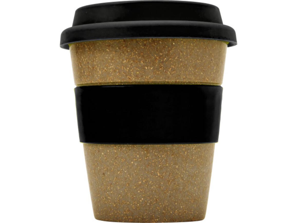 Coffee-to-go Becher 'Bamboo' aus Bambus – Schwarz bedrucken, Art.-Nr. 001999999_7874