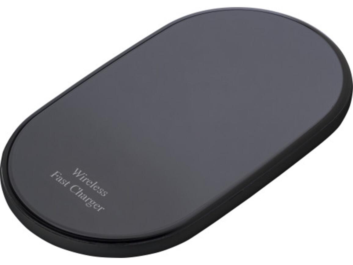 Wireless Ladepad 'Charge-it' – Schwarz bedrucken, Art.-Nr. 001999999_8154