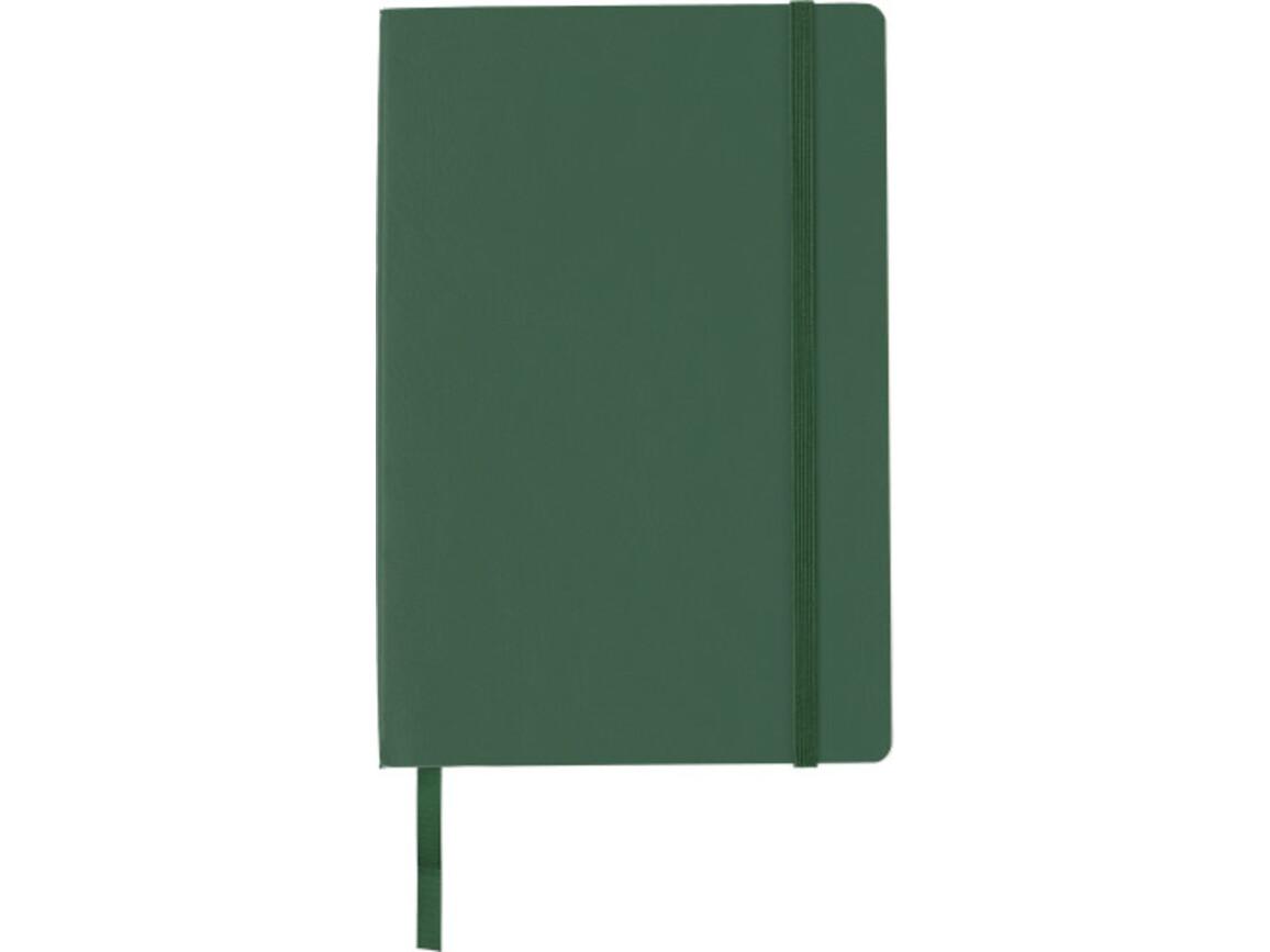 Notizbuch 'Storyteller' aus PU – Grün bedrucken, Art.-Nr. 004999999_8276