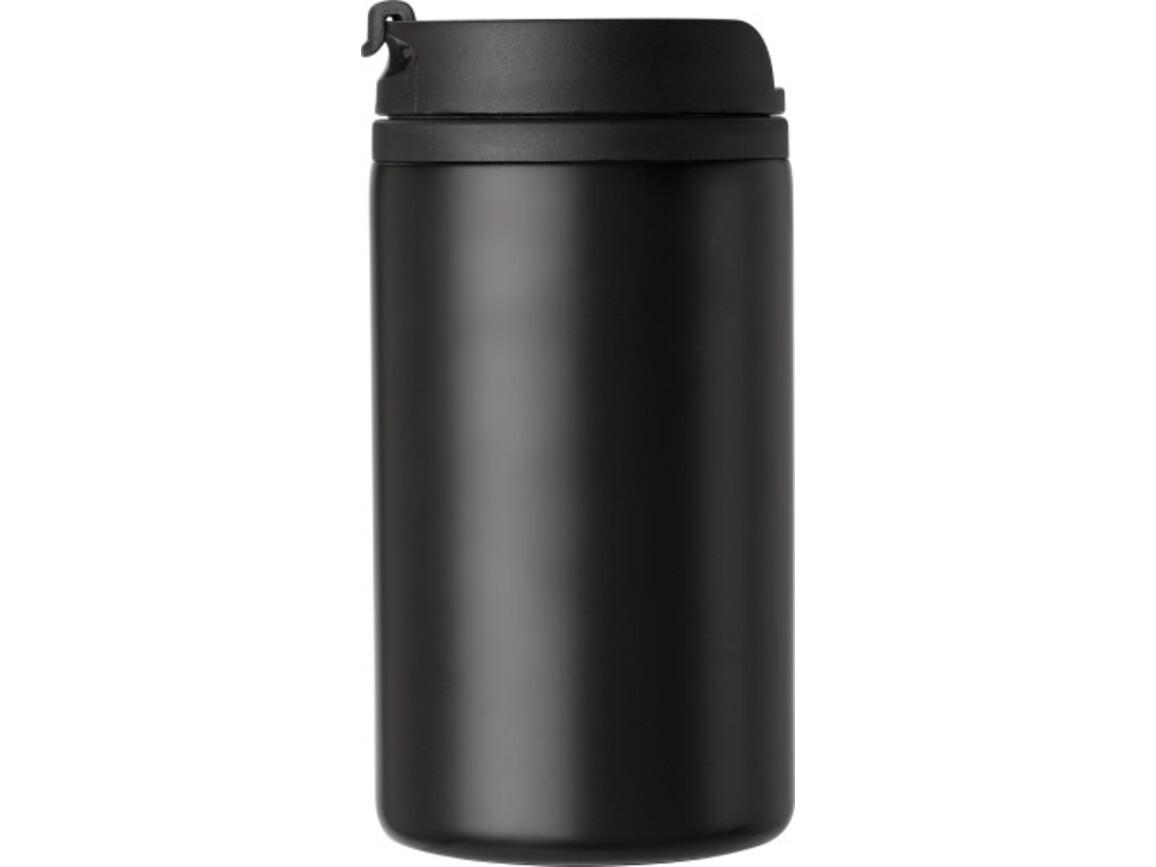 Isolierbecher (300 ml), auslaufsicher – Schwarz bedrucken, Art.-Nr. 001999999_8385
