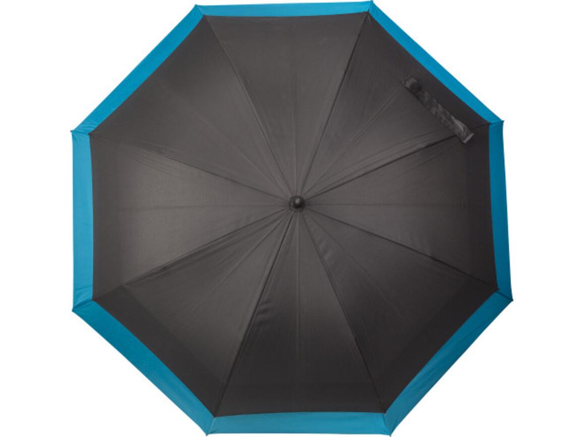 Automatischer Regenschirm 'Double' aus Pongee – Kobaltblau bedrucken, Art.-Nr. 023999999_8984