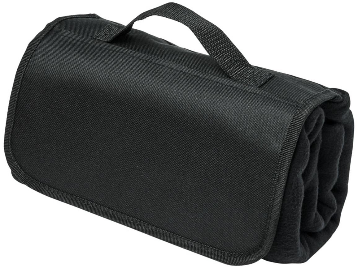 Meadow Picknickdecke aus Fleece mit Klettverschluss, schwarz bedrucken, Art.-Nr. 11296000