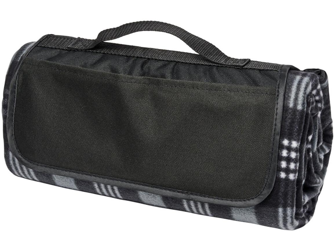 Park Picknickdecke aus Fleece mit Klettverschluss, schwarz bedrucken, Art.-Nr. 11296100