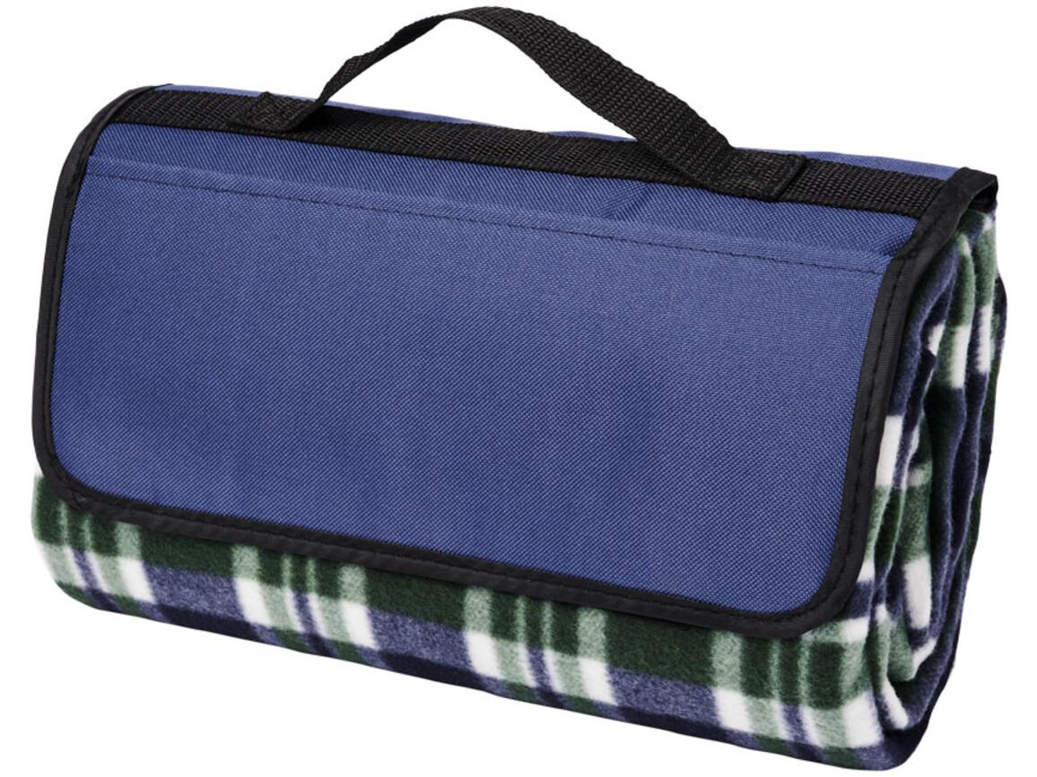 Park Picknickdecke aus Fleece mit Klettverschluss, blau bedrucken, Art.-Nr. 11296102