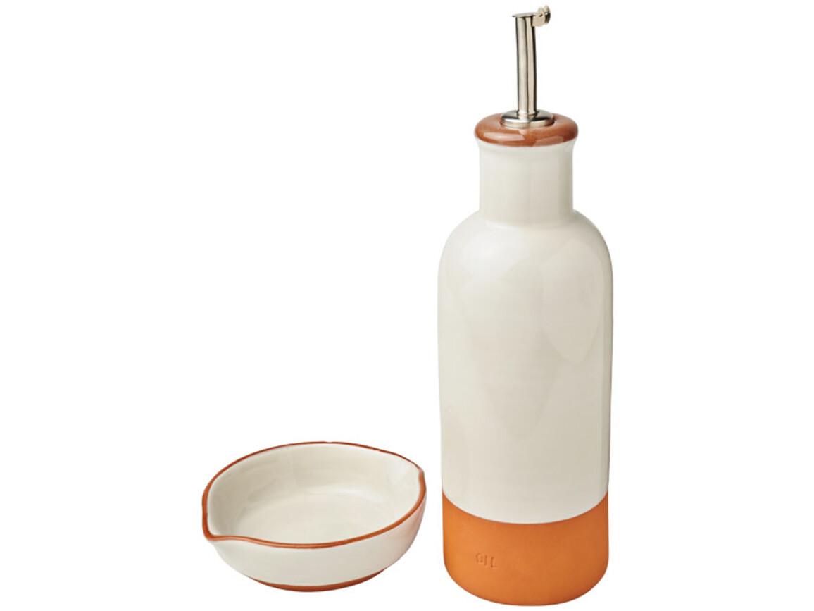 Terracotta-Sprenkler und Dip-Set, orange bedrucken, Art.-Nr. 11299200