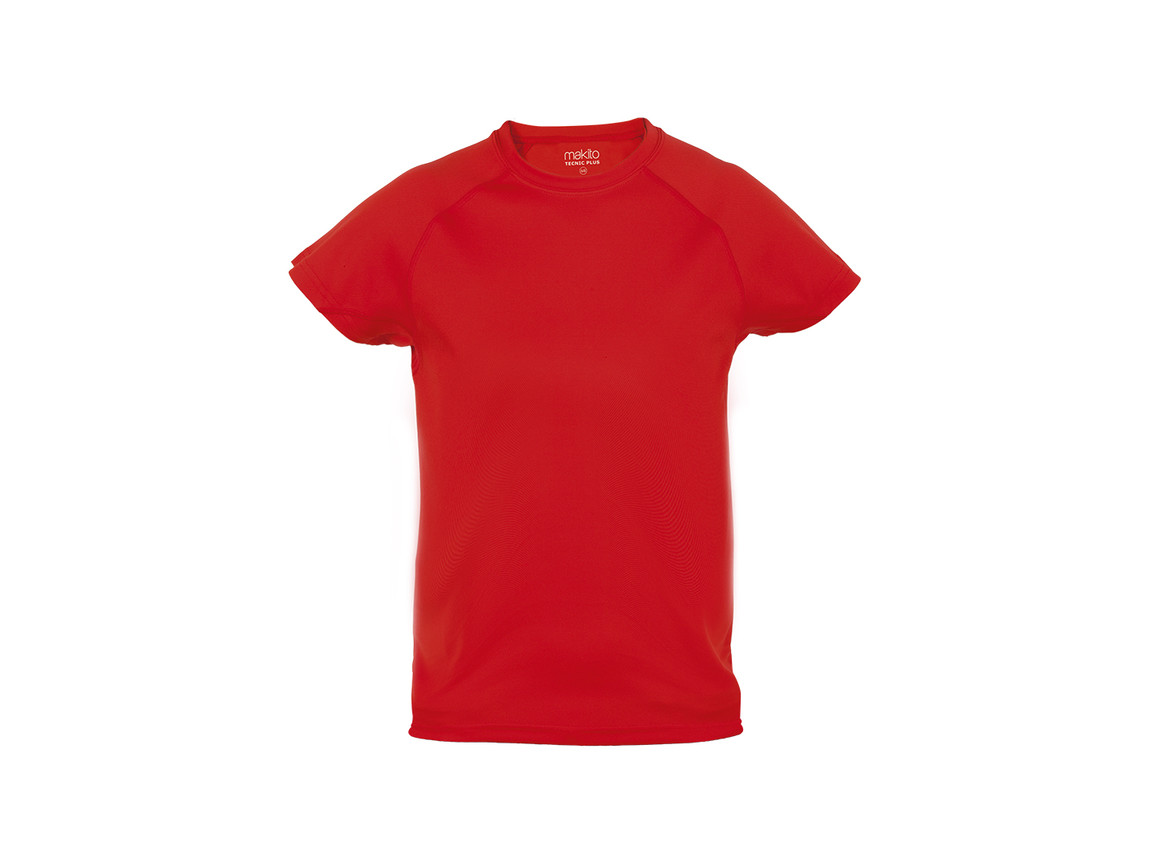 Tecnic Plus - Kinder T-Shirt - ROT - 4-5 bedrucken, Art.-Nr. 4185ROJ4-5