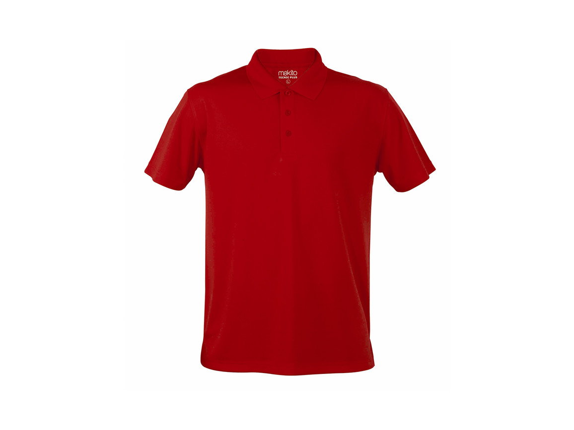 Tecnic Plus - Polo-Shirt - ROT - M bedrucken, Art.-Nr. 4187ROJM