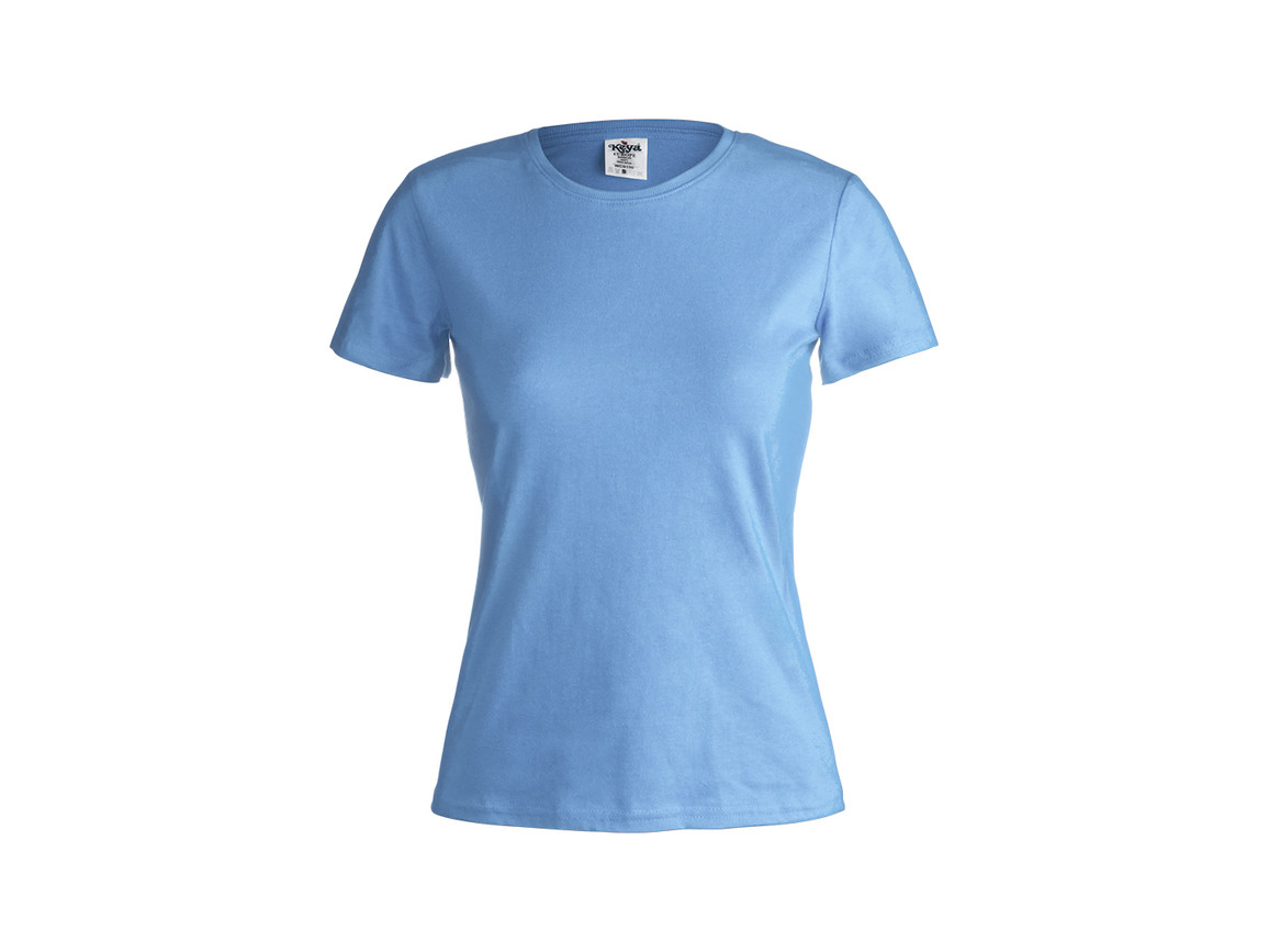 "WCS150 - Frauen Farbe T-Shirt ""keya"" - BLUE LIGHT - L bedrucken, Art.-Nr. 5868AZCL"