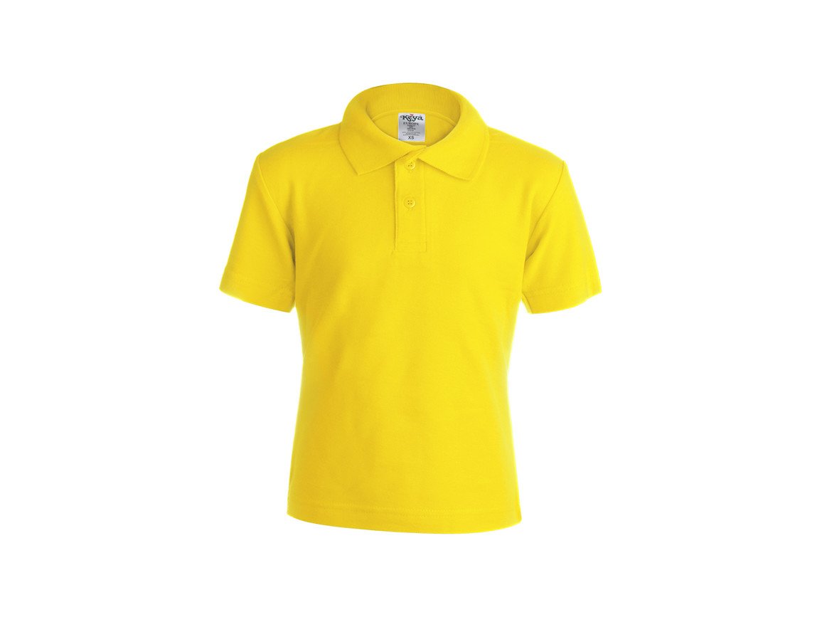 "YPS180 - Kinder Farbe Polo-Shirt ""keya"" - YELLOW - XS bedrucken, Art.-Nr. 5876AMAXS"