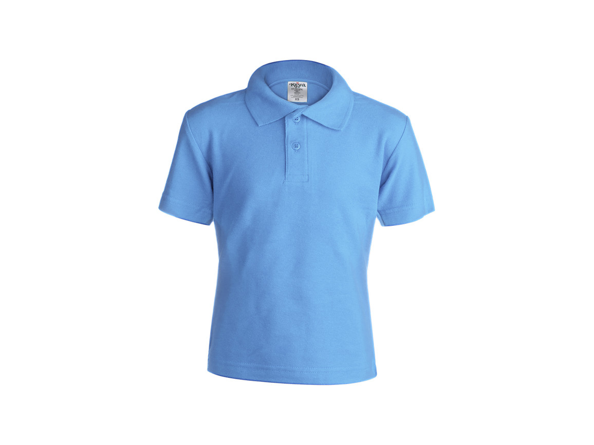 "YPS180 - Kinder Farbe Polo-Shirt ""keya"" - BLUE LIGHT - M bedrucken, Art.-Nr. 5876AZCM"