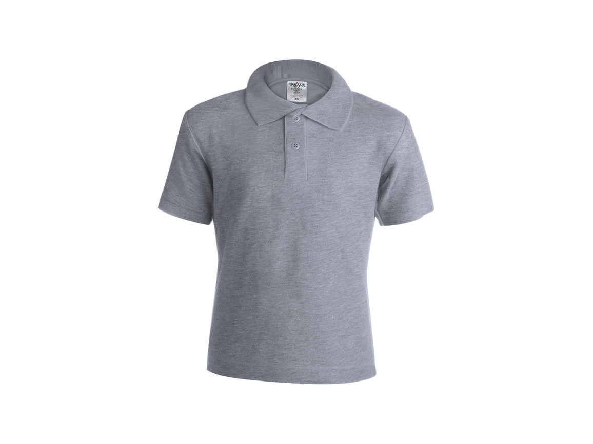 "YPS180 - Kinder Farbe Polo-Shirt ""keya"" - GRAY - M bedrucken, Art.-Nr. 5876GRIM"