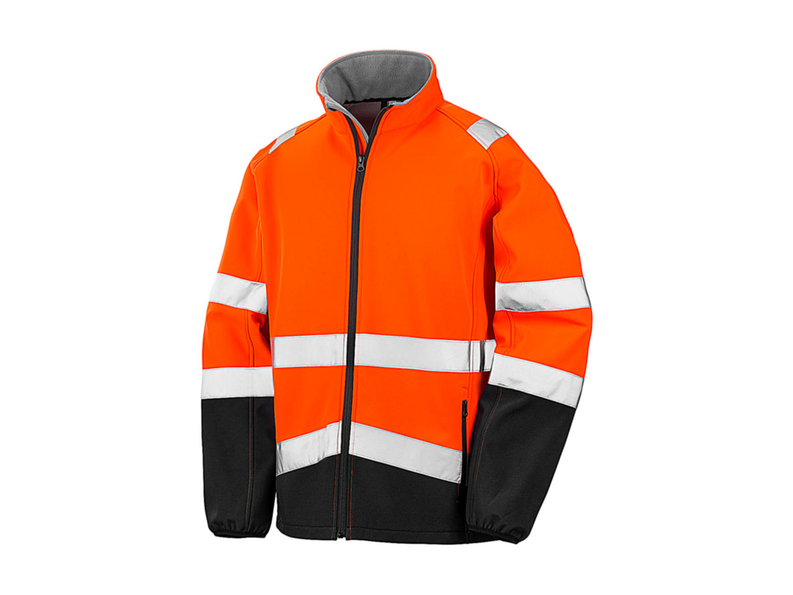 Result Printable Safety Softshell, Fluorescent Orange/Black, S bedrucken, Art.-Nr. 086334783
