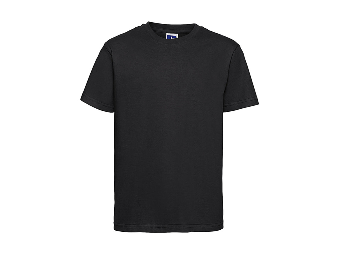 Russell Europe Kids Slim T-Shirt, Black, XL (140/9-10) bedrucken, Art.-Nr. 112001016