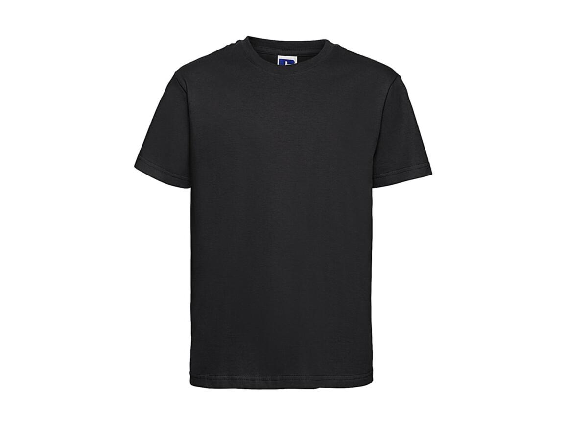 Russell Europe Kids Slim T-Shirt, Black, XS (34) bedrucken, Art.-Nr. 112001012