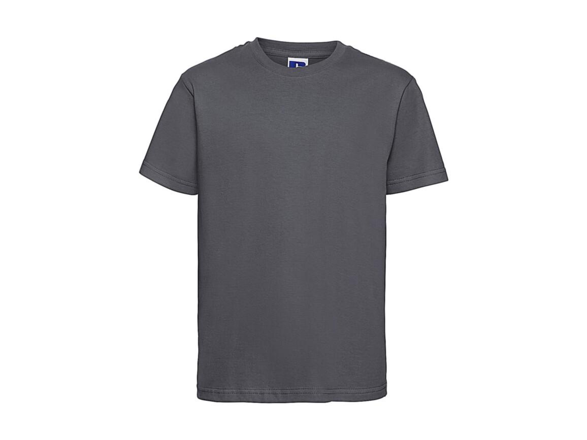 Russell Europe Kids Slim T-Shirt, Convoy Grey, XL (140/9-10) bedrucken, Art.-Nr. 112001276