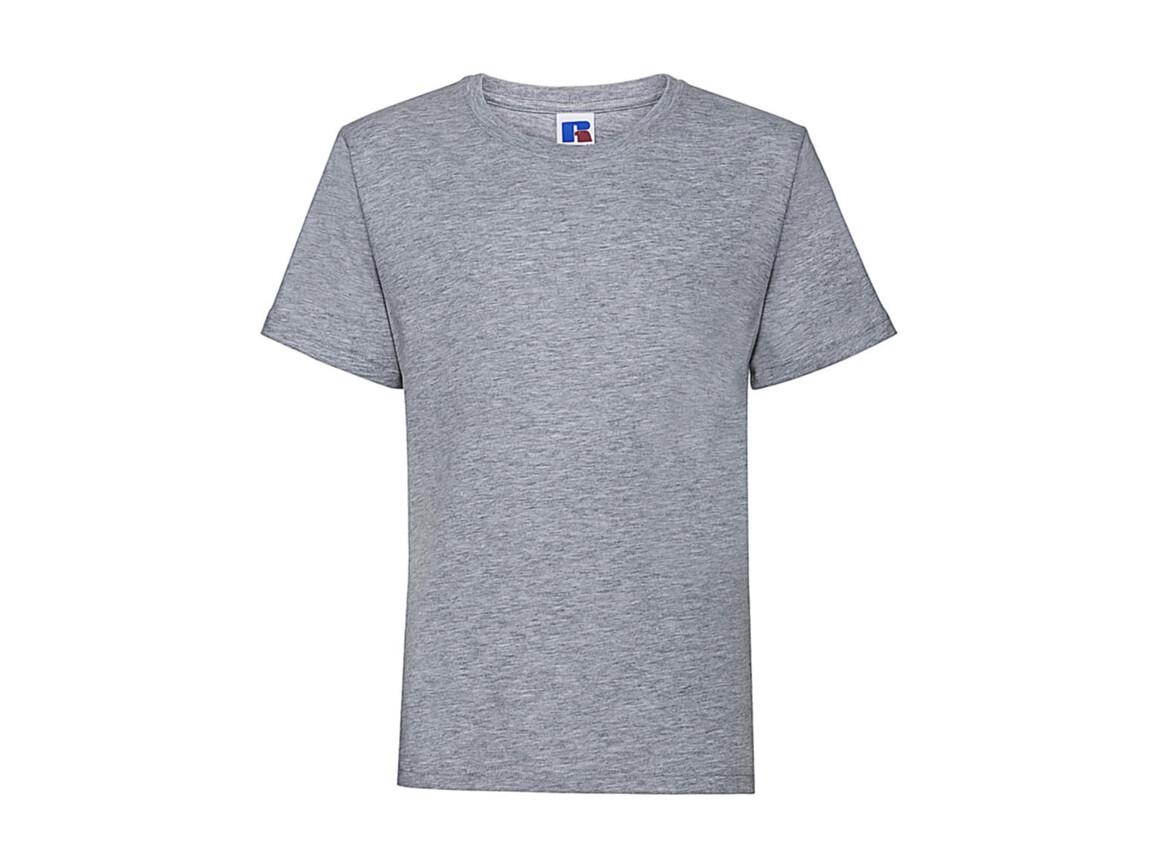 Russell Europe Kids Slim T-Shirt, Light Oxford, M (116/5-6) bedrucken, Art.-Nr. 112007194