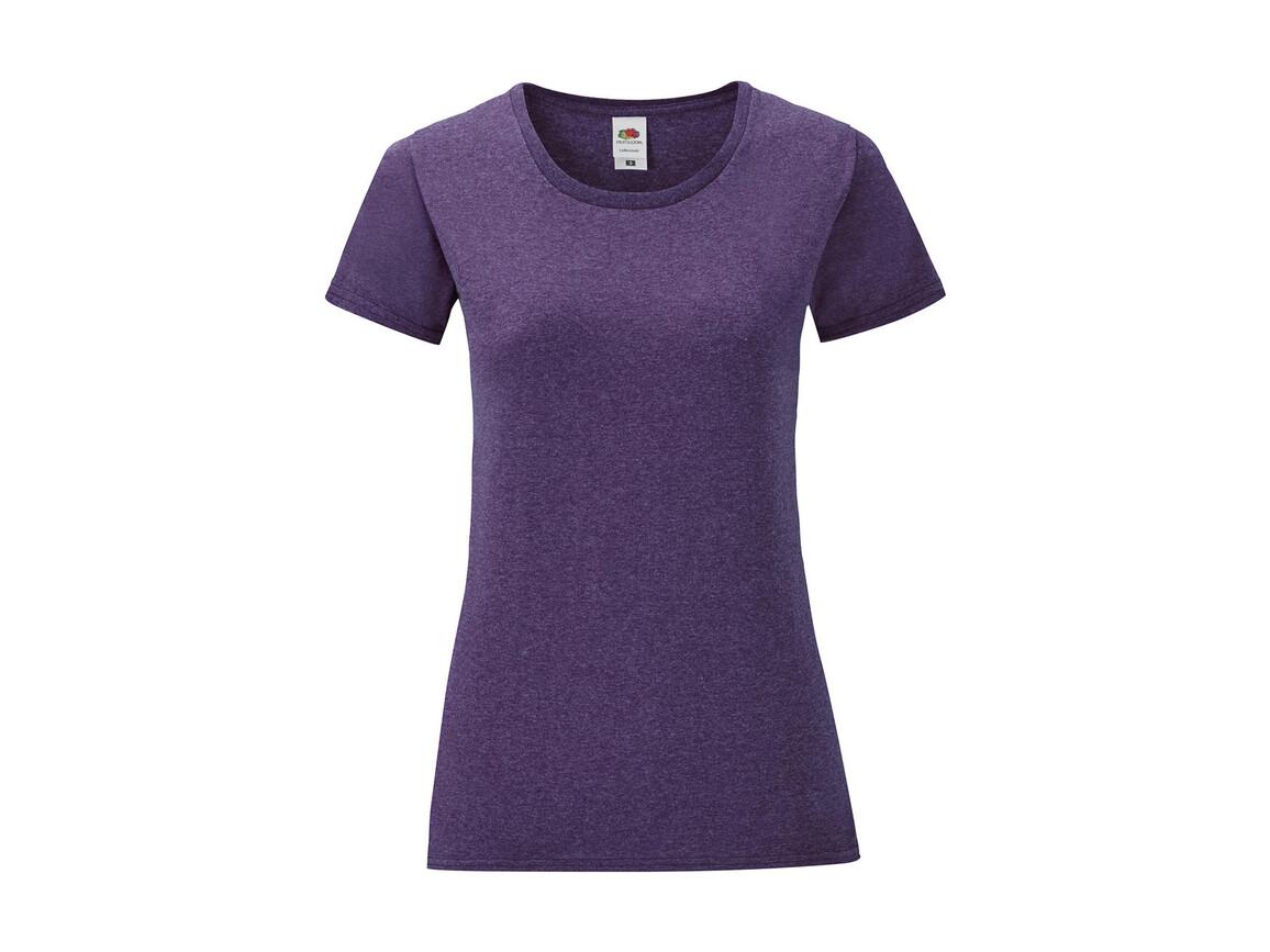 Fruit of the Loom Ladies` Iconic T, Heather Purple, XL bedrucken, Art.-Nr. 112013466