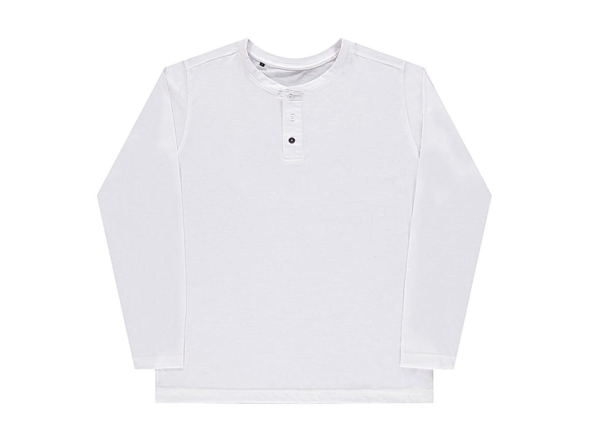 nakedshirt Aden Men`s LS Henley T-Shirt, White, XL bedrucken, Art.-Nr. 112850006