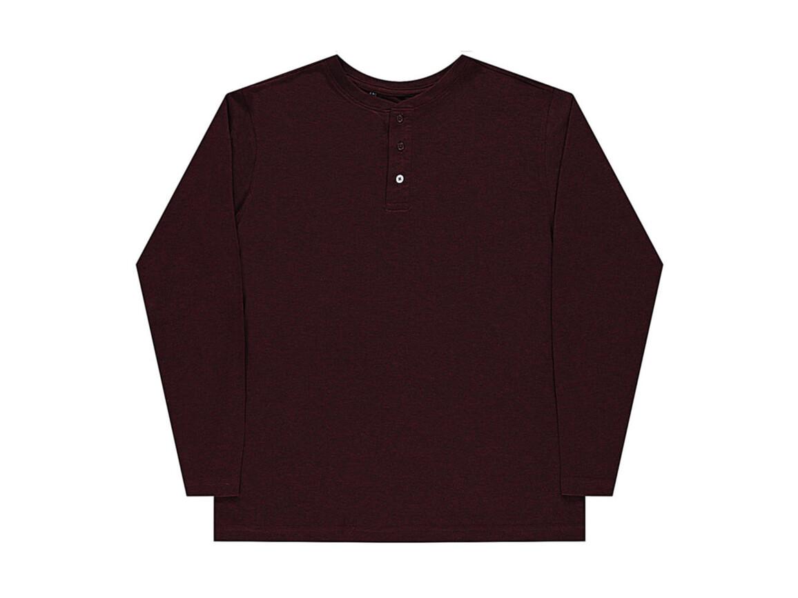 nakedshirt Aden Men`s LS Henley T-Shirt, Doubledyed Flame, L bedrucken, Art.-Nr. 112854095