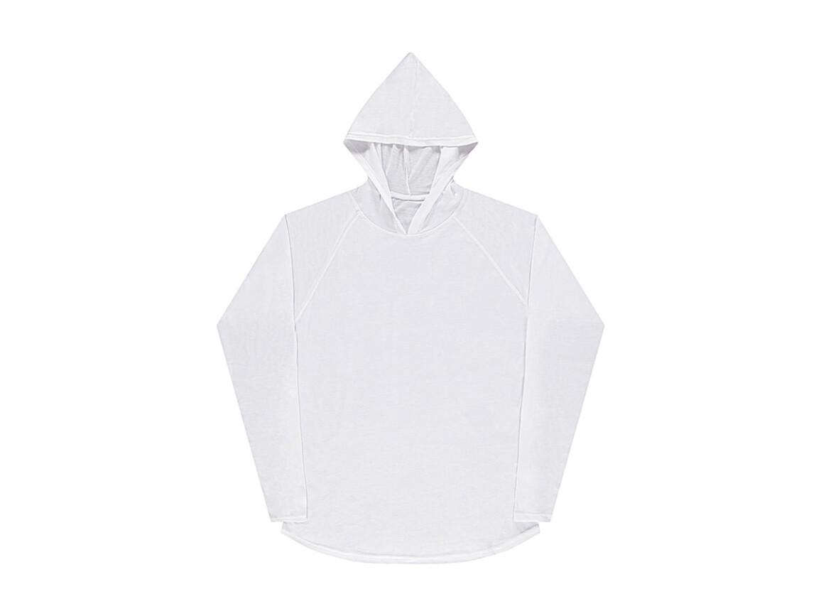 nakedshirt Cecil Unisex LS Hooded T-Shirt, White, M bedrucken, Art.-Nr. 113850004