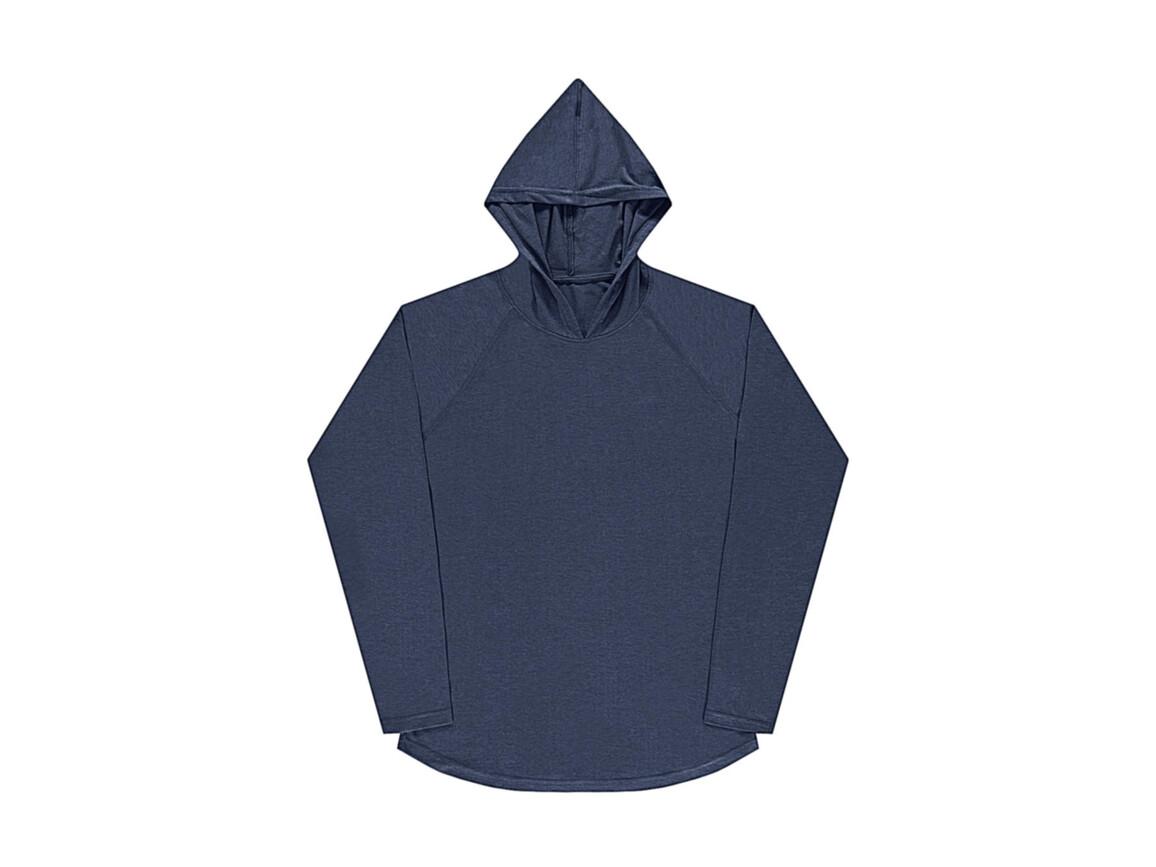 nakedshirt Cecil Unisex LS Hooded T-Shirt, Denim Blue, S bedrucken, Art.-Nr. 113853183